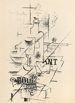 La Bouteille - Georges Braque - Original Lithograph - 1963