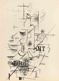 La Bouteille - Georges Braque - 1963