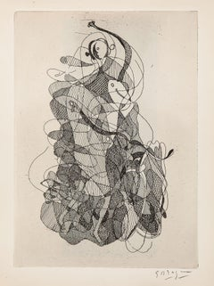 La Danse - Original Etching by G. Braque - 1934