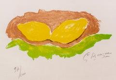 Les Citrons - Georges Braque - Lithograph - Modern