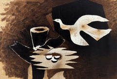 L'Oiseau et son Nid - Original Lithograph by G. Braque - 1956 ca.
