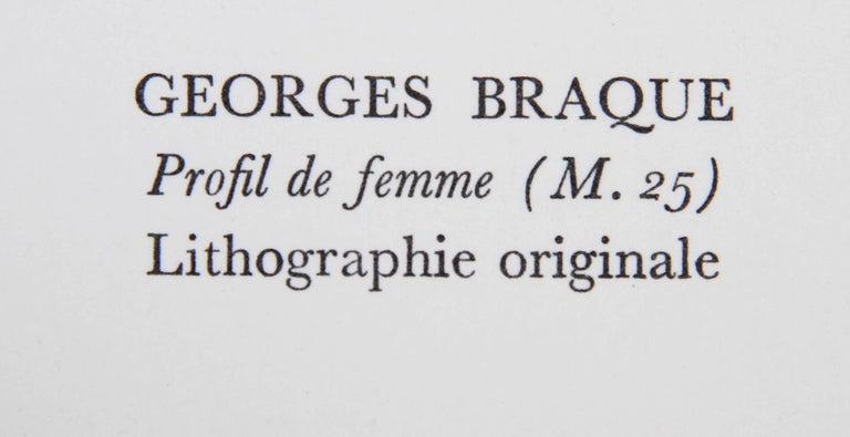 Profil de Femme from Souvenirs de Portraits d'Artistes by Georges Braque For Sale 2