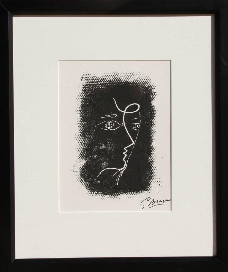 Artist: Georges Braque (after), French (1882 - 1963) Title: Profil de Femme from Souvenirs de Portraits d'Artistes. Jacques Prévert: Le Coeur à l'ouvrage (M.25) Year: 1972 Medium: Lithograph, signed in the plate Edition: 800 Image Size: 8 x 5.5