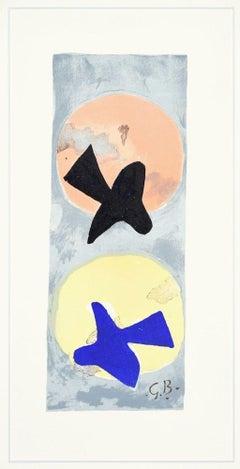 Soleil et Lune II  - Original Lithograph by Georges Braque - 1959
