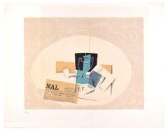 """Still Life - Original Lithograph for """"Derrière Le Miroir"""" by G. Braque - 1956"""