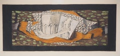 Still Life with Glass and Pipe - Original etching (Catalog Orozco # EAS 781)