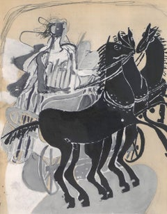 The Chariot - Original Lithograph by Georges Braque - 1955