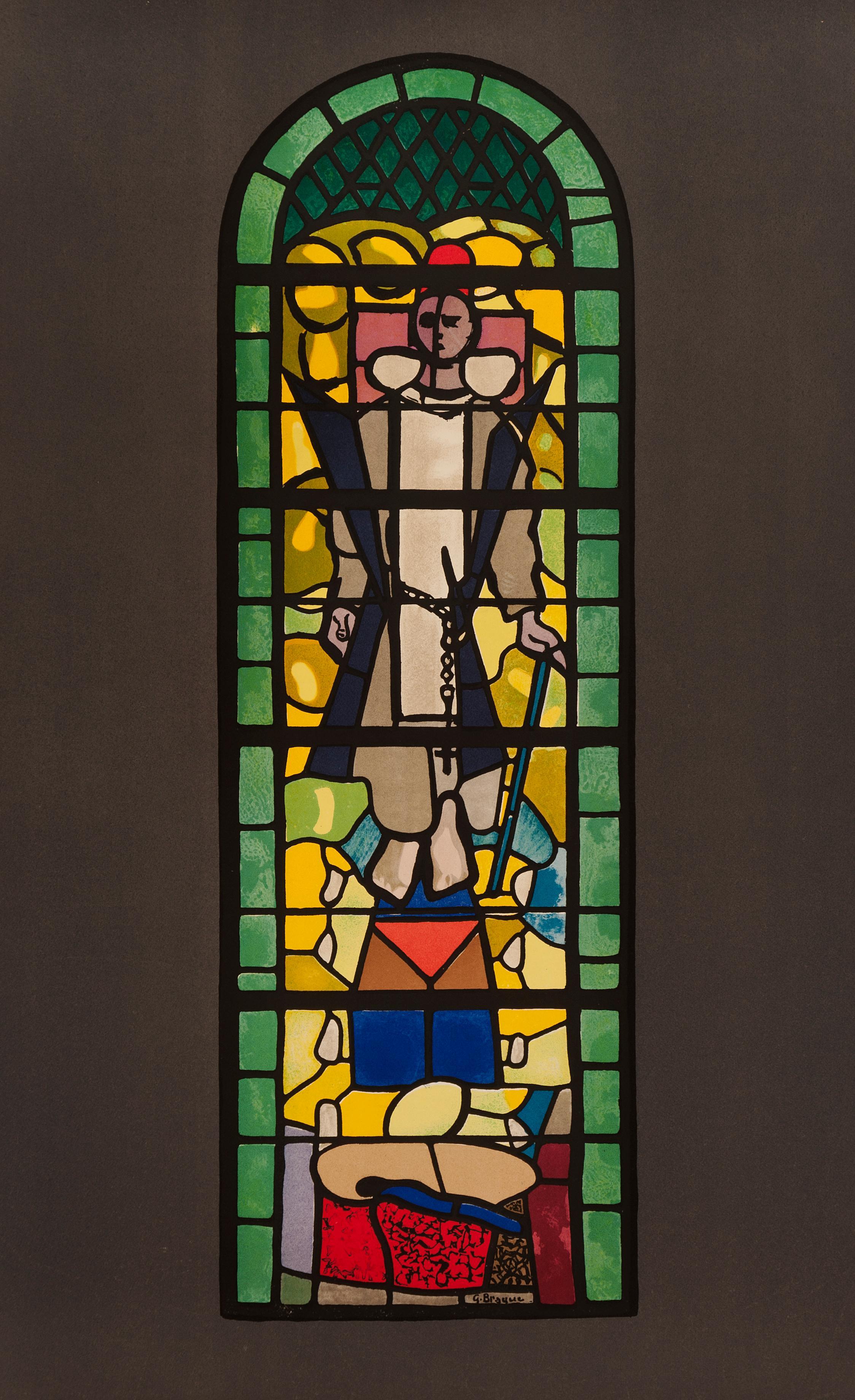 Vitrail de l'église de Saint Dominique (after) Georges Braque, 1960