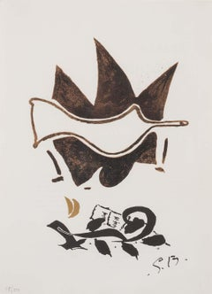 White Dove - original modern lithograph by classical modernist Georges Braque