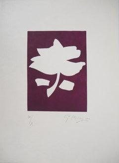 White Flower - Original woodcut, Handsigned, Ltd / 10 copies (Orozco #454)