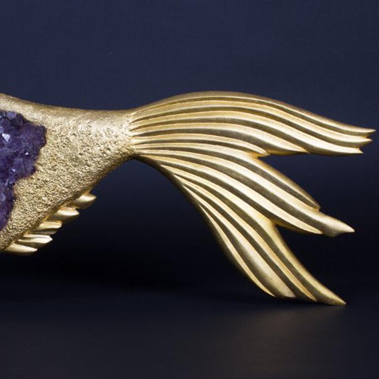 Georges Braque's - Bronze Amethyst Sculpture - Glaucos For Sale 2