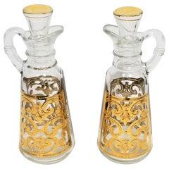 Georges Briard 22-Karat Gold Cruet Set 1960s Midcentury