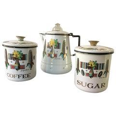 Georges Briard 3-Piece Enamelware Coffee Set