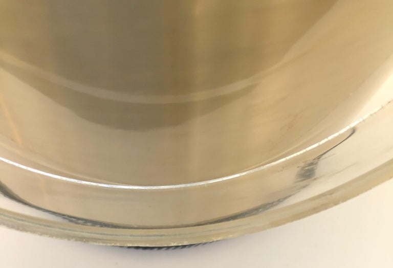 Georges Briard Brushed Brass with Rope Accents & Lucite Handle & Top Ice Bucket For Sale 12