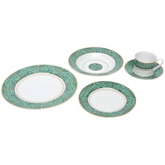 Georges Briard Imperial Malachite Porcelain China Service