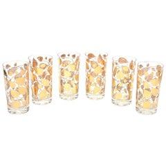 Georges Briard Mid-Century Modern Glass Highballs Barware