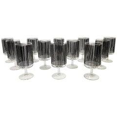 Georges Briard Rare Set of 12 Glassware Barware Midcentury Unused in Boxes