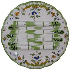 Georges Cabaré French Faïence Martres Tolosane Hand Painted Asparagus Plate