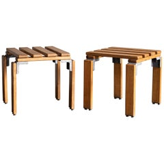 Georges Candilis & Anja Blomstedt, Pair of Stools, Sentou, 1969