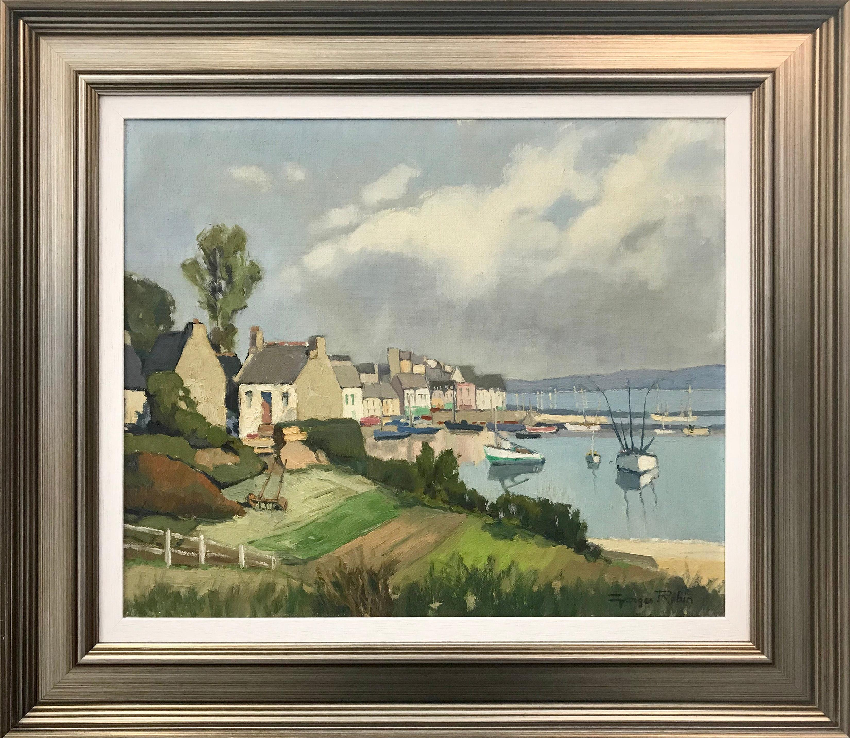 Brittany Coastal Painting France by Modern French Impressionist Landscape Artist