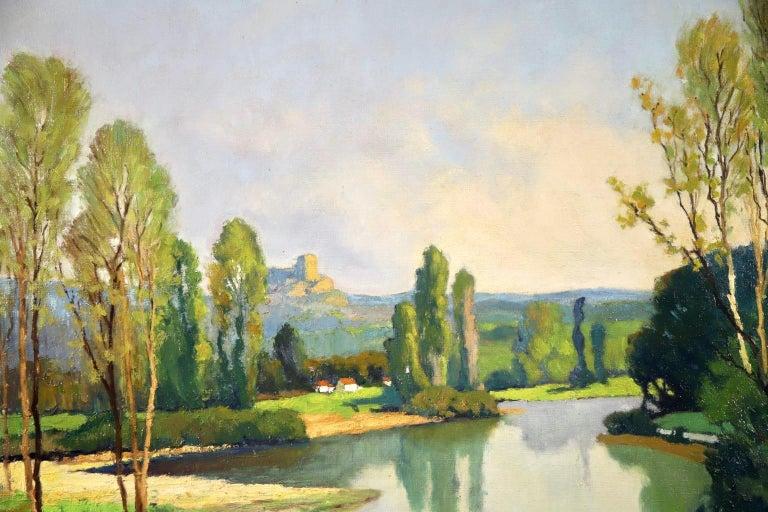 Dordogne River - Post Impressionist Oil - Landscape by Georges Charles Robin For Sale 4