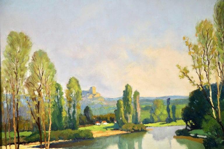 Dordogne River - Post Impressionist Oil - Landscape by Georges Charles Robin For Sale 5