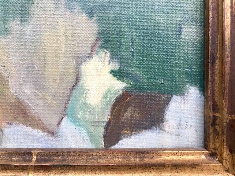 Hérisson La Plage 20th Century French River Landscape Impressionistic Painting For Sale 2