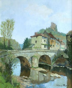 La Vienne près de Confolens - 20th Century Oil, River in Landscape by G C Robin
