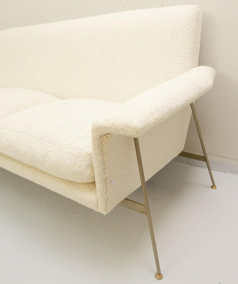 Georges Coslin sofa 1960s - New upholstery.