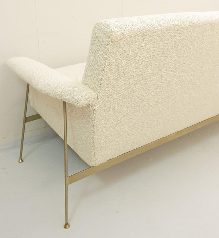 Georges Coslin Sofa 1960s, New Upholstery In Good Condition For Sale In Brussels, BE