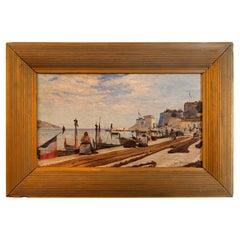 Georges Darasse '1855-?', Villefranche, Oil on Canvas, 1894, France