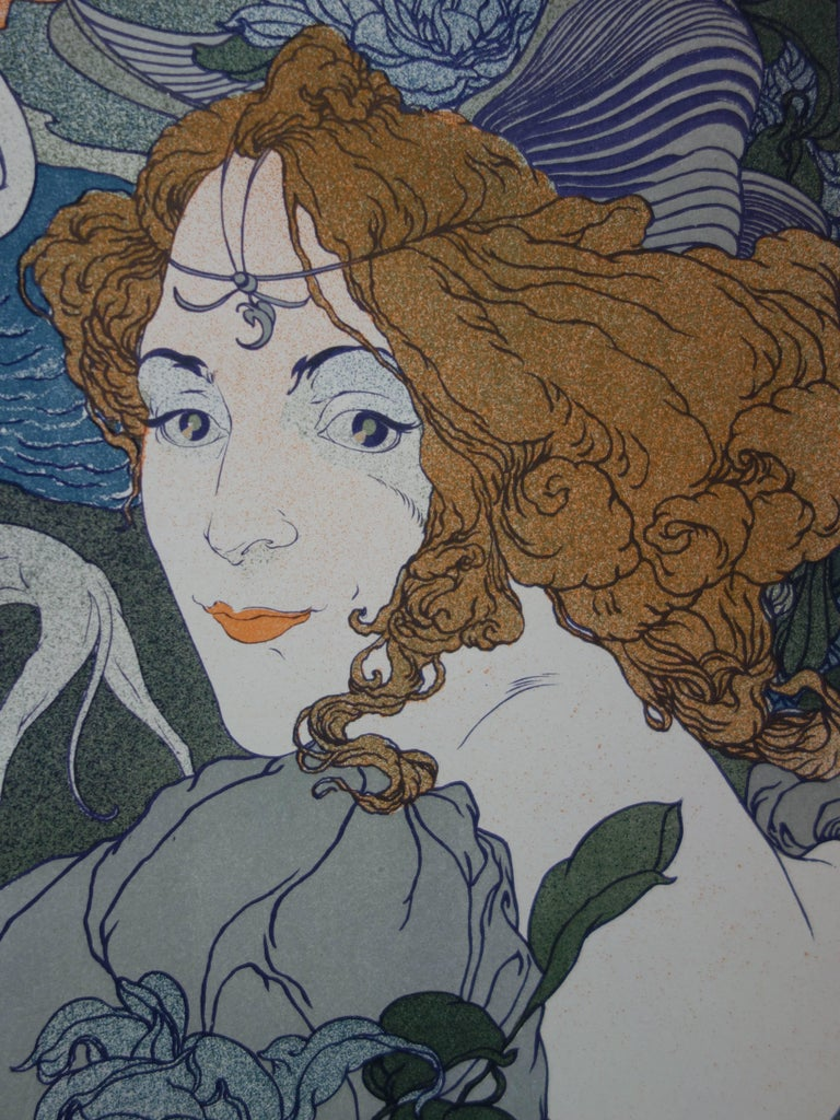 Georges de FEURE (1868 - 1943) Return  Original lithograph Printed signature, as issued 1897/98 Printed on paper Vélin (wove) Size 40 x 31 cm (c. 16 x 12