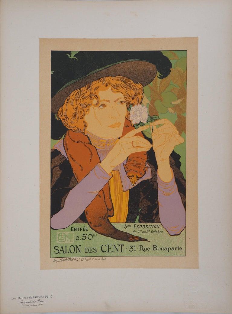 Salon des Cent - Lithograph (Les Maîtres de l'Affiche), 1895 - Print by Georges De Feure