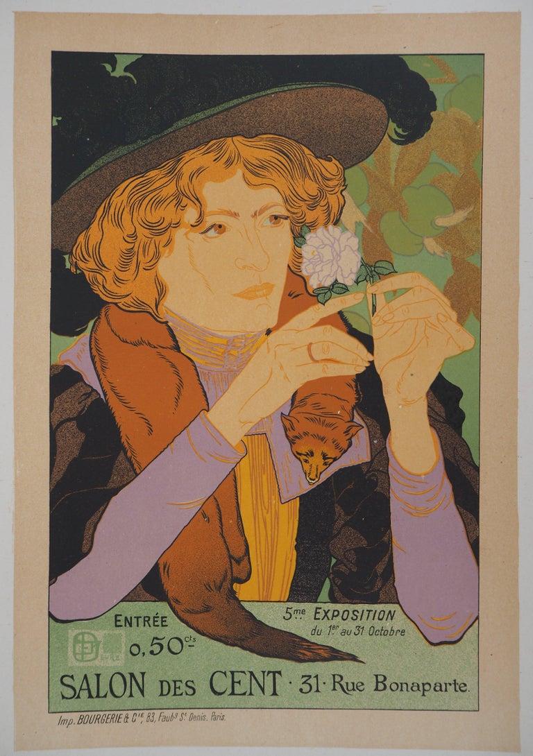 Georges De Feure Figurative Print - Salon des Cent - Lithograph (Les Maîtres de l'Affiche), 1895