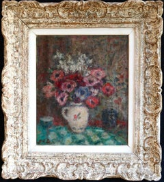 Fleurs - Post Impressionist Oil, Still Life Vase of Flowers - Georges D'Espagnat
