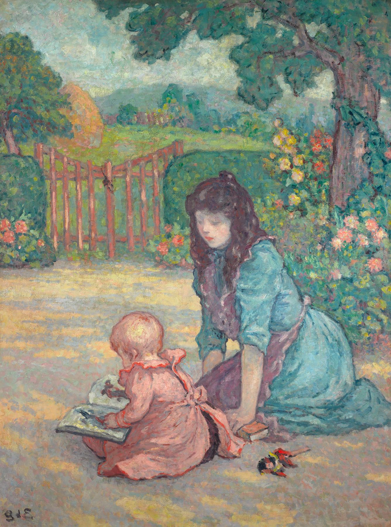 La lecture au jardin (Lesson in the Garden)