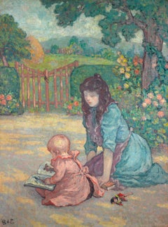 La lecture au jardin (Lesson in the Garden)