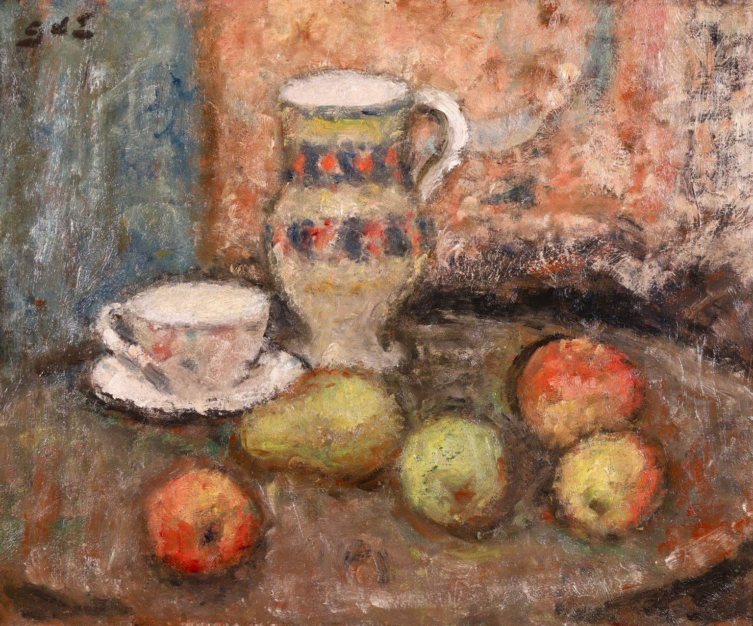 Nature Morte - Post Impressionist Oil, Still Life of Fruit by Georges D'Espagnat