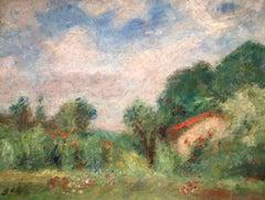Paysage de campagne - Post-Impressionist Oil, Landscape by Georges D'Espagnat