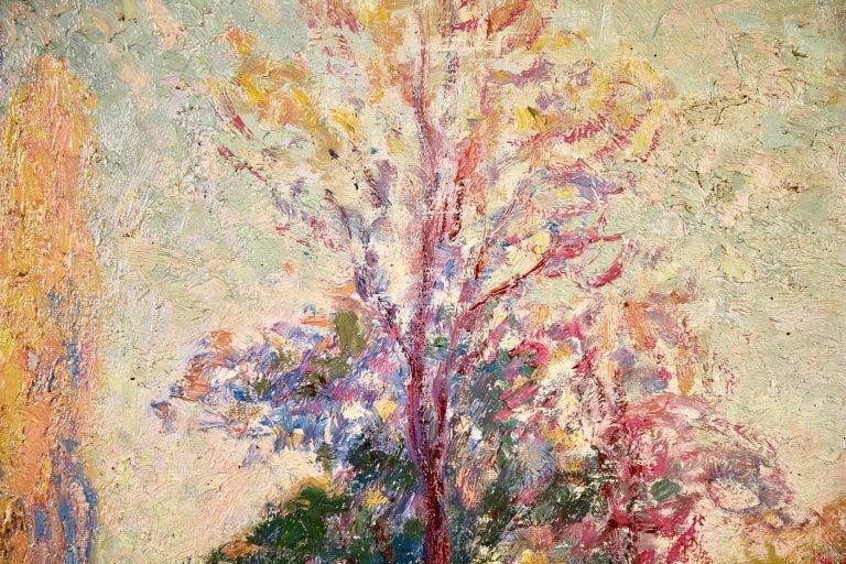 Vernouillet - Post-Impressionist Oil, Autumn Landscape by Georges D'Espagnat For Sale 9