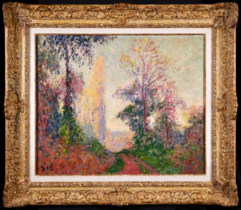 Vernouillet - Post-Impressionist Oil, Autumn Landscape by Georges D'Espagnat For Sale 1