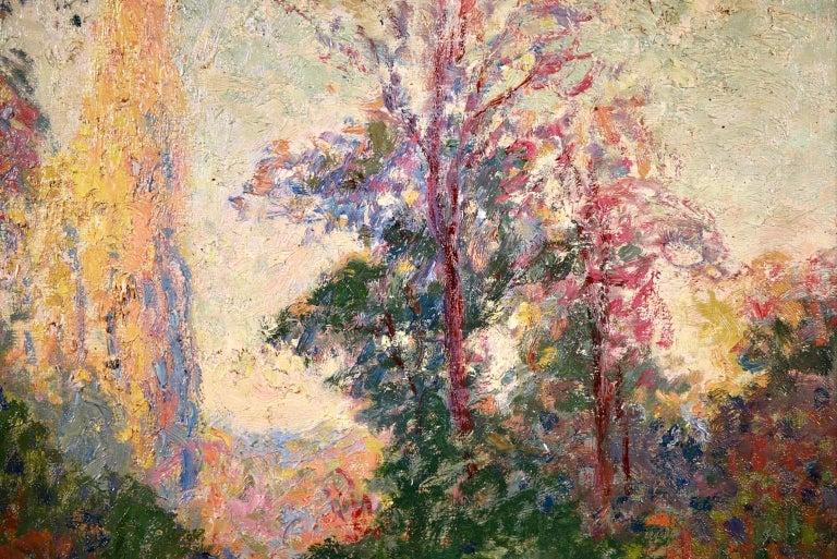 Vernouillet - Post-Impressionist Oil, Autumn Landscape by Georges D'Espagnat For Sale 2