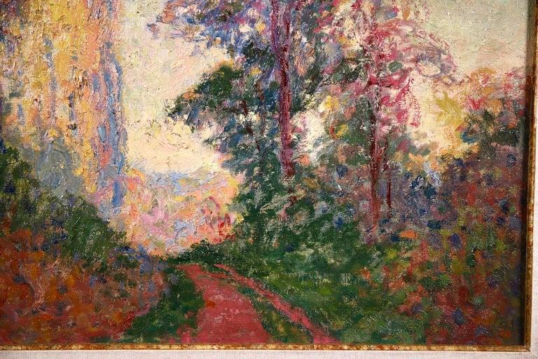 Vernouillet - Post-Impressionist Oil, Autumn Landscape by Georges D'Espagnat For Sale 3