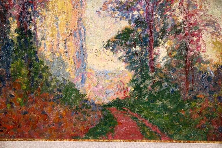 Vernouillet - Post-Impressionist Oil, Autumn Landscape by Georges D'Espagnat For Sale 4
