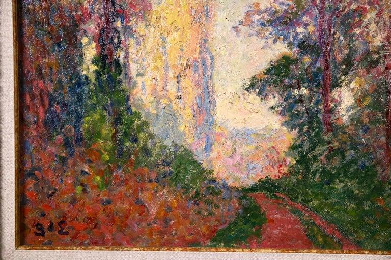 Vernouillet - Post-Impressionist Oil, Autumn Landscape by Georges D'Espagnat For Sale 5