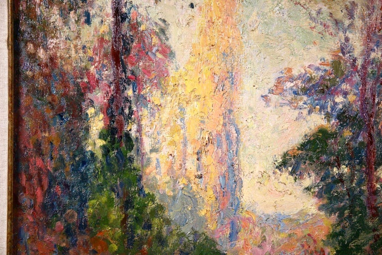 Vernouillet - Post-Impressionist Oil, Autumn Landscape by Georges D'Espagnat For Sale 6