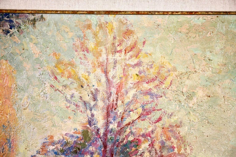 Vernouillet - Post-Impressionist Oil, Autumn Landscape by Georges D'Espagnat For Sale 8
