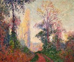 Vernouillet - Post-Impressionist Oil, Autumn Landscape by Georges D'Espagnat