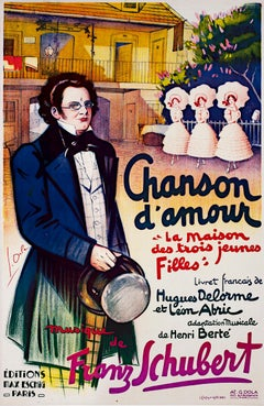 """Chanson d'Amour,"" Original Lithograph Poster signed by Georges Dola"