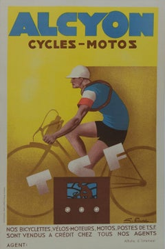Alcyon Cycles-Moto Vintage Poster